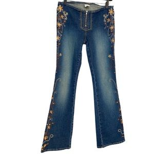 Vintage Z Cavaricci Embroidered Bootcut Jeans